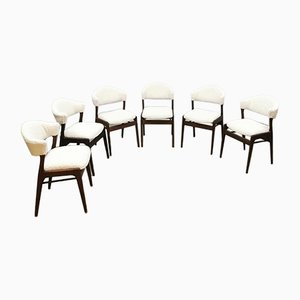 Vintage Boucle Dining Chairs, Set of 6