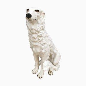 Vintage Italian Ceramic Dog Figure