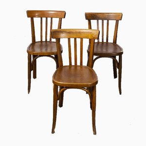Baumann Bentwood Model 3 Dining Chair by Joamin Baumann, 1950s, Set of 3