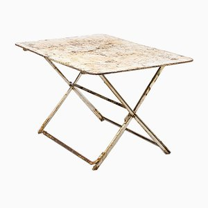 French Folding Metal Outdoor Table, 1950s