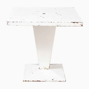 French Square KUB Outdoor Table in White from Tolix, 1960s