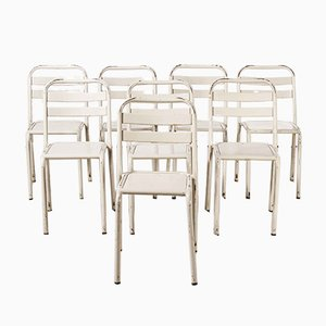 French T2 Dining Chairs from Tolix, 1950s, Set of 8