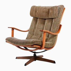 Scandinavian Swivel Lounge Chair from G Möbel, Sweden, 1970s
