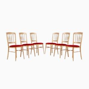 Italian Chiavari Chairs, Set of 6