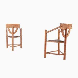 Mid-Century Swedish Monk Chairs, 1950s, Set of 2