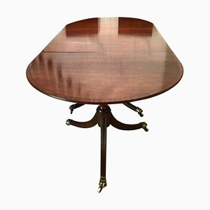 Antique Triple Pedestal Dining Table in Mahogany