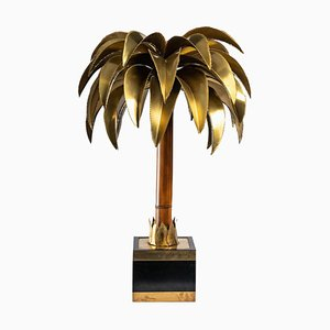 Large Palm Tree Lamp in Brass