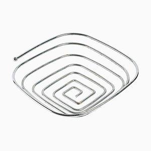 Chrome-Plated Metal Fruit Bowl