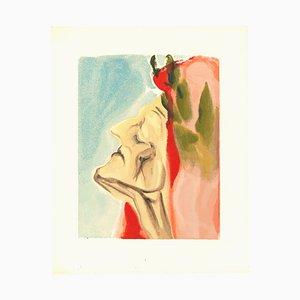 Salvador Dalí, Dante Alighieri, Original Woodcut, 1963