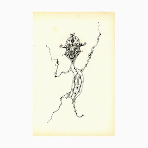 Bruno Capacci, Composition of Diodora, Original Lithograph, 1950s