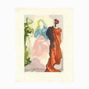 Salvador Dalí, St. Bernard's Prayer to the Virgin, Original Woodcut, 1963