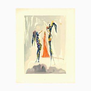 Salvador Dalí, The Angelus of the Empyrean, Original Woodcut, 1963