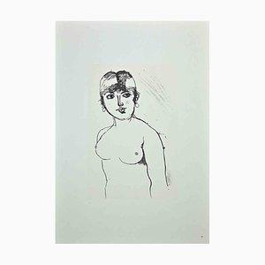 Franco Gentilini, Nude Woman, Vintage Offset Print, 1970s