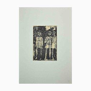 Franco Gentilini, Figure, Vintage Offset Print, 1970s