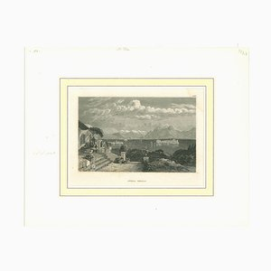 Unknown, Ancient View of Isola Bella, Original Lithograph, Early 19th-Century