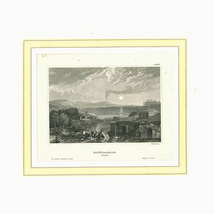 Unknown, The Bay, Original Lithograph on Paper, Mid-19th-Century