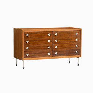 Vintage Italian Rosewood and Teak Chest of Drawers