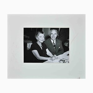 De Wan Studios, Portrait of Mr. And Mrs. Harry M. Warner, Original B&W Photograph, 1940s
