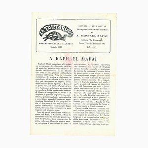 Raphael Mafai, La Tartaruga Gallery Vintage Catalogue, 1955