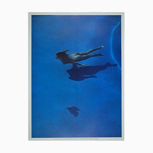 Swimming Pools, Vintage Offset Print in the style of Franco Fontana, 1984