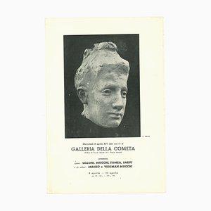 Unknown, Cometa Gallery Vintage Exhibition Catalogue, Offset Print, 1936