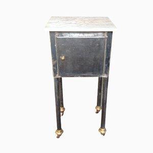 Kleiner Industrieller Tisch mit Marmorplatte