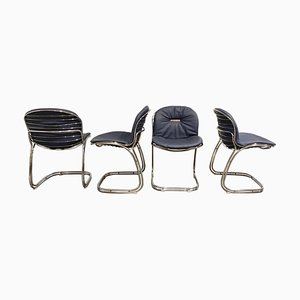 Sabrina Dining Chairs by Gastone Rinaldi for Rima, 1970s, Set of 4