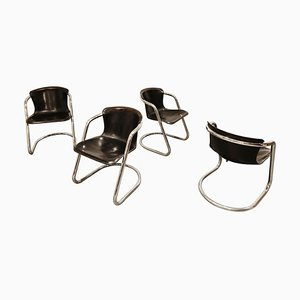 Vintage Dining Chairs by Willy Rizzo for Cidue, 1970s, Set of 4
