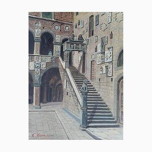 Enrico Bianchini, Firenze Cortile del Bargello, 1953