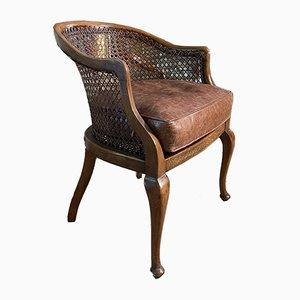Antique Georgian Style Cane Tub Chair