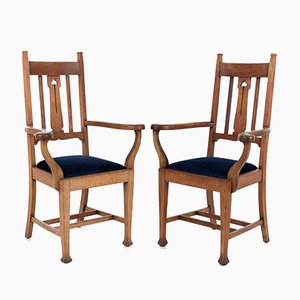 Arts and Crafts Armchairs, Set of 2