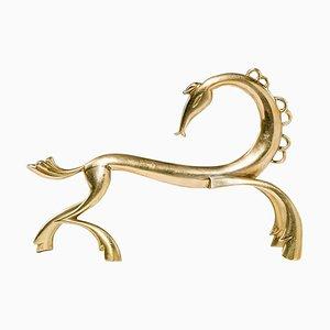 Art Deco Austrian Brass Horse Sculpture from Werkstätte Hagenauer, Vienna