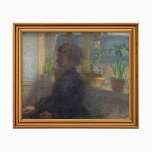 Florence Abrahamson, Interior Scene with Seated Woman