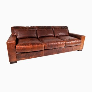 Brown Leather Sofa from Roche Bobois