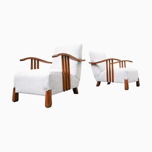 Mid-Century Armchairs, Italy, 1950s, Set of 2