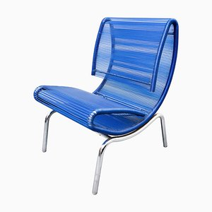 Blue Plastic & Rope Chair by Roberto Semprini, Italy