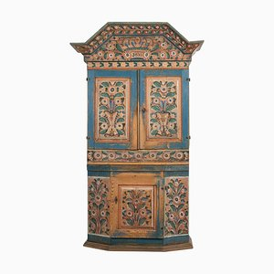 19th-Century Swedish Painted Country Cabinet