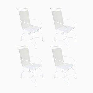 Vintage Garden Chairs in Metal, Set of 4