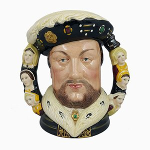 Large Character Jug Depicting King Henry VIII with Double Handle from Royal Doulton