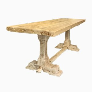 Antique Solid Oak Monastery Table
