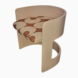 Vintage Curved Chair in Wood, Italy, 1960s
