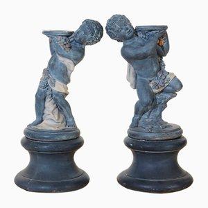 Putti Garden Statues, Set of 2