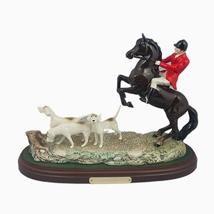 3464 Tally Ho Sculpture on Wooden Plinth from Beswick