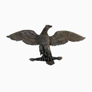 Large Empire Period Carved Eagle in Oak and Beechwood, France