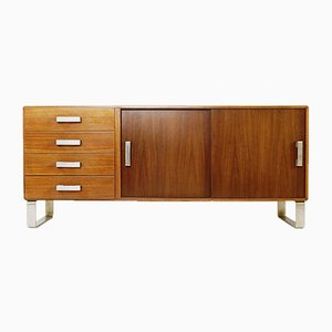 Italian Sideboard with Sliding Doors & Drawers, Italy, 1970s