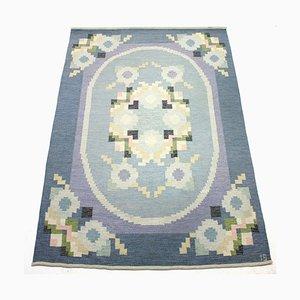 Flatweave Röllakan Carpet by Ingegerd Silow, 1950s