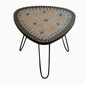 Kidney-Shaped Flowers Stool with Mosaic and Hairpinlegs, 1960
