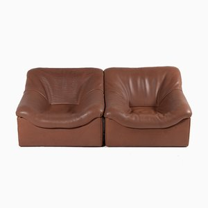 Buffalo Leather DS-46 Lounge Chairs from De Sede, 1970s, Set of 2