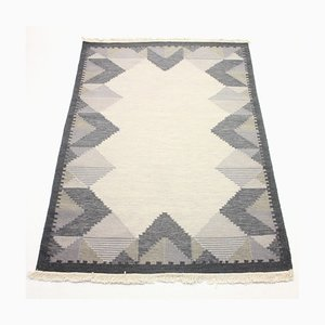 Swedish Flatweave Röllakan Carpet, 1970s