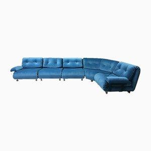 Blue Modular 5-Seater Corner Sofa by K. M. Wilkins for G Plan, Set of 5